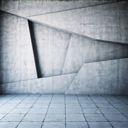 industrial background: Abstract geometric background of the concrete