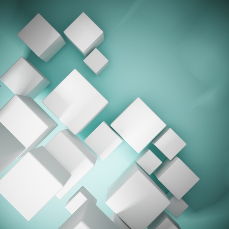 Abstract background from cubes photo