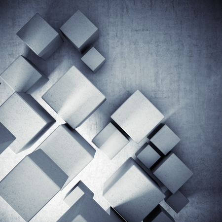 Abstract background from concrete cubes Stock Photo - 19867134