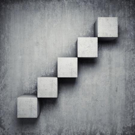bloque de hormigon: Resumen escalera de hormig�n hecha de cubos