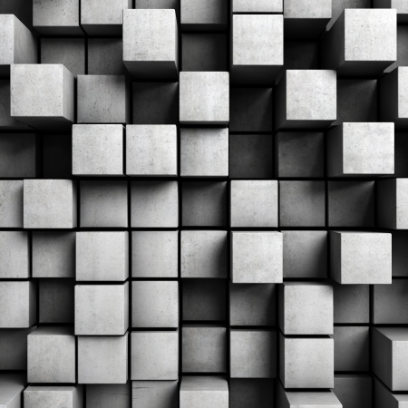 concrete form: Abstract background from concrete cubes