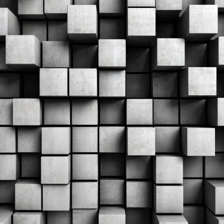 fondo geometrico: Fondo abstracto de cubos de hormig�n Foto de archivo