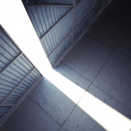 Bright light open the hangar doors