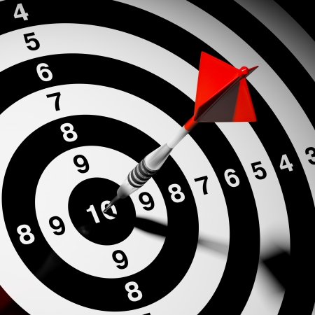 Dart hitting a target. Success in business. Stock Photo - 20460533