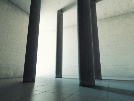 Architectural design of a large hall with columns and bright light Stock Photo - 20460566