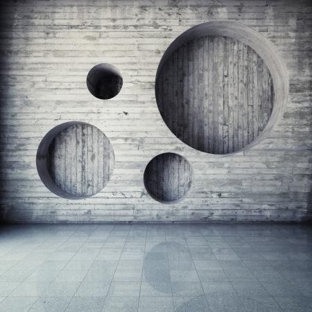 Abstrakte geometrische Hintergrund der konkreten Standard-Bild - 21026054
