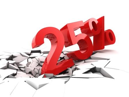 25 % 할인 나누기 접지 스톡 콘텐츠