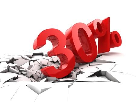 30% の割引の休憩地