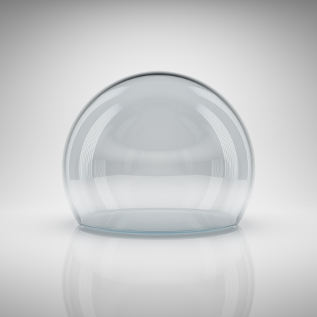 Empty glass ball for exhibition Stock Photo - 21026043