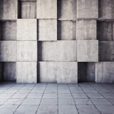 コンクリートの抽象的な幾何学的な背景 写真素材