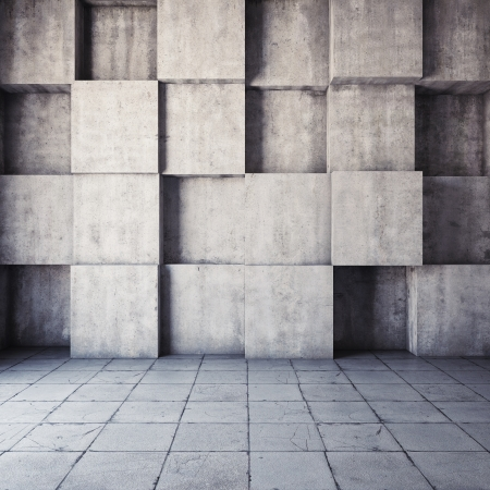 concrete form: Abstract geometric background of the concrete