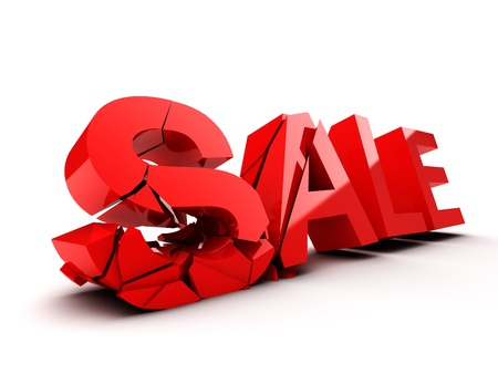 Word SALE is destroyed at the fall Stock Photo - 21863776