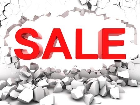 destroy: Destructive sale destroy the wall