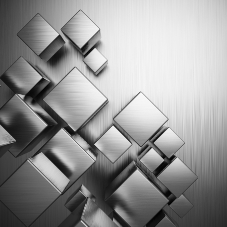 Abstract background from metallic cubes Stock Photo