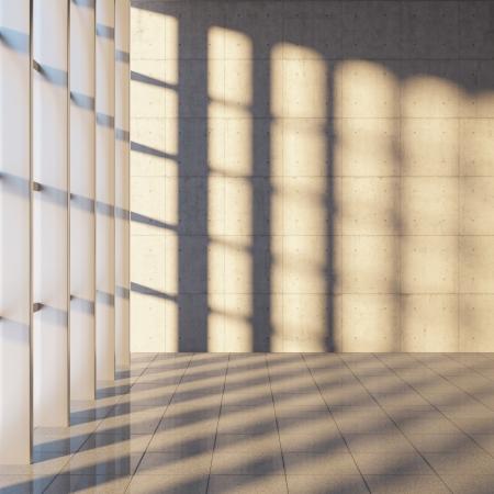 탁 트인 창 현대 콘크리트 관의 건축 설계