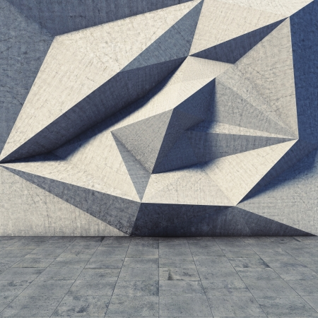 Abstract geometric of the concrete Banco de Imagens
