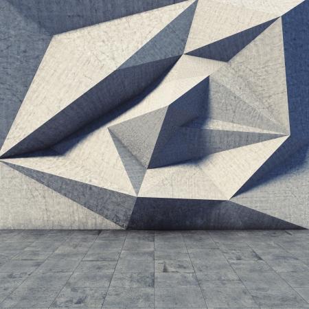 Abstract geometric of the concrete Foto de archivo