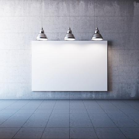 광고 전광판 및 조명 램프와 대형 콘크리트 관