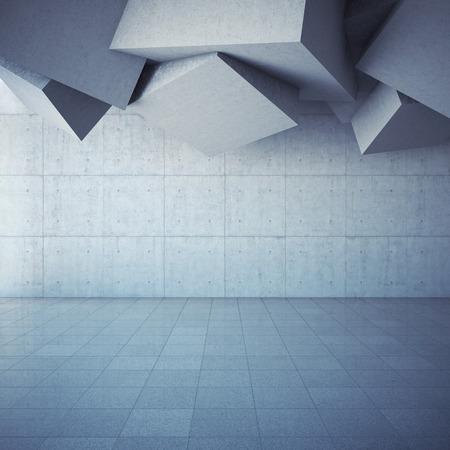 arte moderno: Fondo abstracto geométrico del hormigón