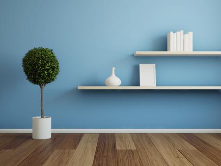 나무 선반 인테리어 룸