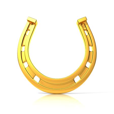 golden horseshoe: Golden horseshoe for good luck