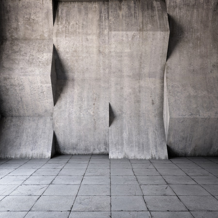 Abstract geometric background of the concrete Imagens - 27506647