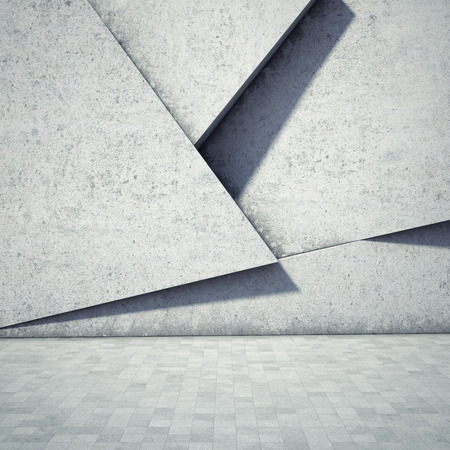 Abstract geometric background of the concrete