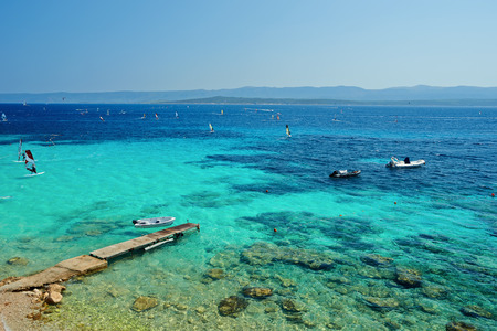 brac: Beautiful beach on the Adriatic island Brac in Croatia