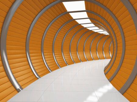 illuminated: Modern illuminated long corridor