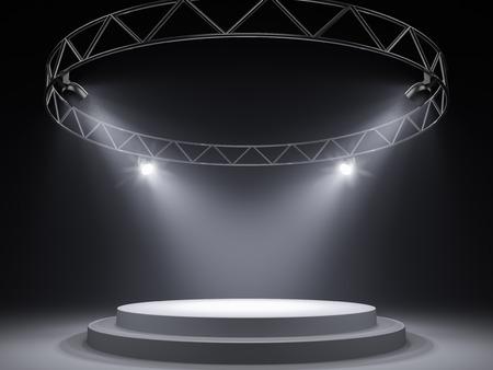plataforma: Escenario vacío en focos Foto de archivo