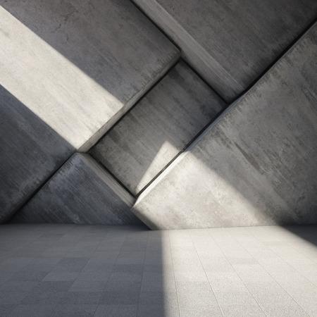 habitacion desordenada: Fondo abstracto geom�trico del hormig�n