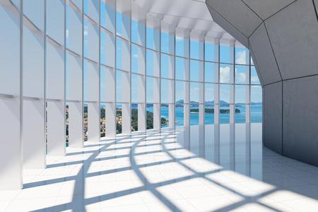 큰 탁 트인 바다 전망을 갖춘 오피스 빌딩