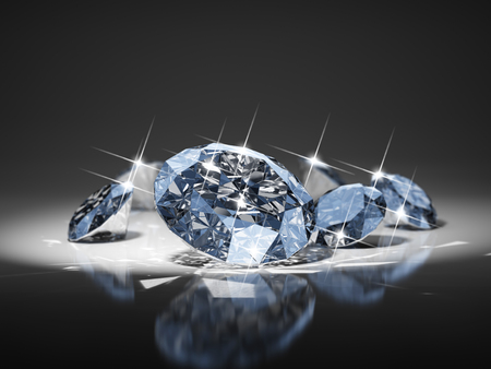 Diamond in focus Stock Photo