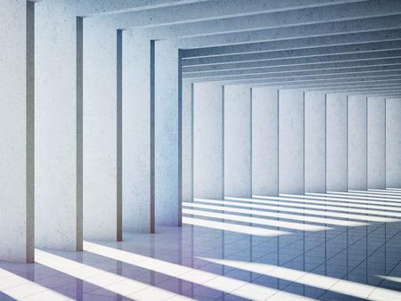 Architectural design of modern concrete hall