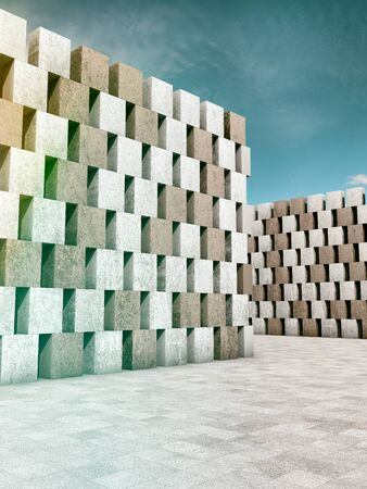 industrial design: Architectural design of buildings made of concrete blocks