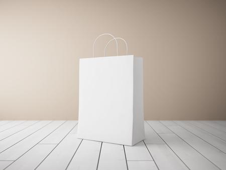 shopping bag: Blank shopping bags in focus