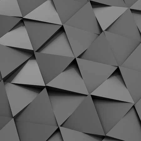 Abstract background from from metal triangles. 3D illustration.