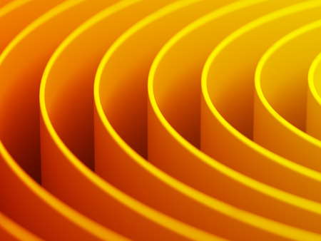 Abstract background of rings in bright colors. 3D illustration. Stock Photo