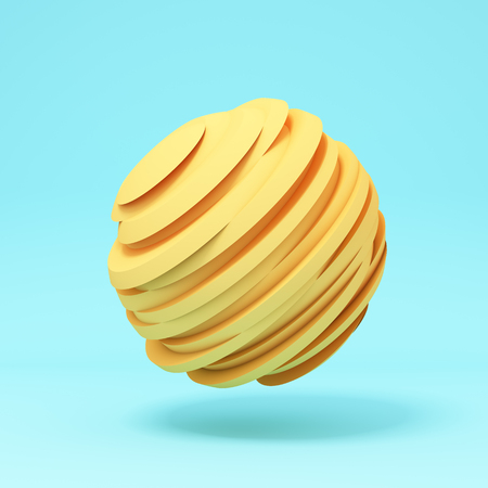 Abstract sphere, conceptual art, ball sliced, 3D illustration, rendering.