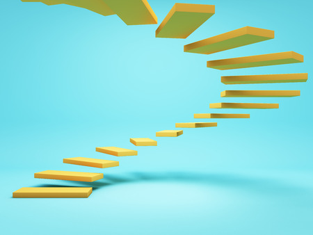 Abstract stairs, conceptual art, 3D illustration, rendering. Stock Photo