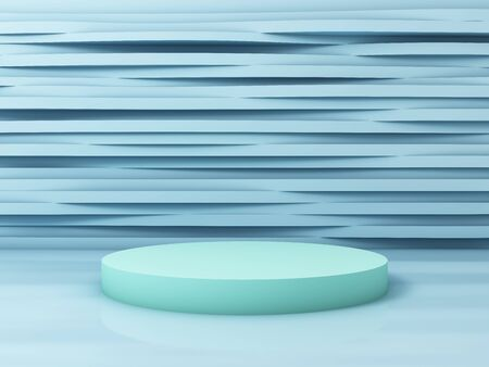 Stand for product, abstract background, pastel colors, 3D rendering.