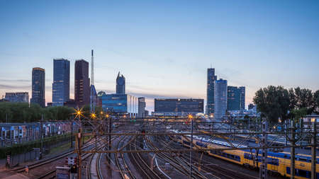Central railway station of The Hague Netherlands Editorial