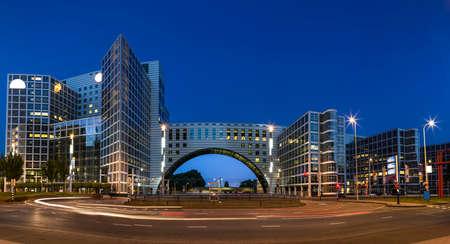 Commercieel gebied van de stad Den Haag in Nederland