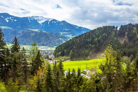 Alps valley of Austria Foto de archivo