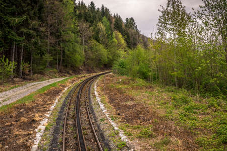 Zillertal rail tourist train line of Austria Stock Photo