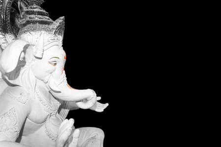 isolated image of a hindu God Lord Ganesh idol prepared for the annual festival image