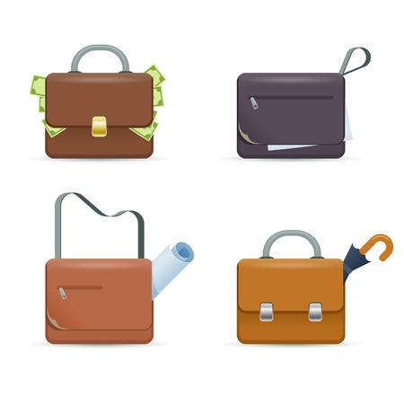Briefcase. Set of vector icons Vector
