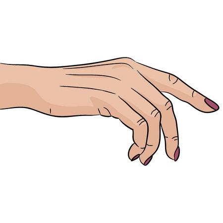 Nail polish hand gesture manicure Illustration