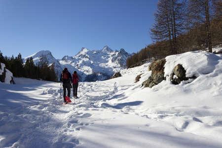 aosta: Snowshoeing in Aosta valley