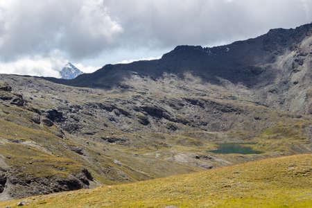 aosta: Hiking trail in Aosta Valley, Italy, Doreire lake